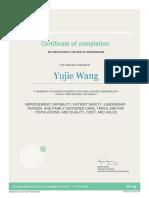 ywang ihi certification