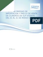 Precio Ppi y Precios de Mercado -Marzo 2016 Docx (1)