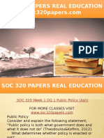 SOC 320 PAPERS Real Education - Soc320papers.com
