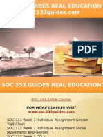 SOC 333 GUIDES Real Education - Soc333guides.com