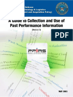 A Guide to Collection and Use of Past Performance Informance