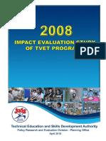 2008 Impact Evaluation Study of TVET Programs