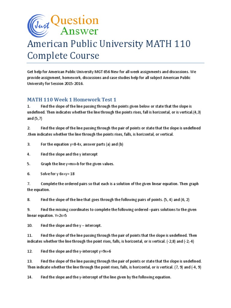 American public university math 110 complete course line american public university math 110 complete course line geometry quadratic equation ccuart Images