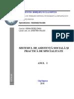Sistemul de Asistență Socială Și Practica de Specialitate (I)