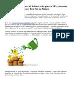 Alternativa para llevar el Software de generación, empresa o sistema - entrar en el Top Ten de Google