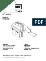 Craftsman LT2000 Bagger Installation Manual