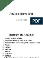Analisis Buku Teks