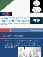 Acute Abdomen 2013