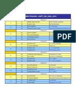 Tirages championnats de la Nièvre Bourgogne