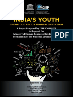 IndIa's Youth Speak Out About Higher Education - A National Survey Report