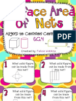surface area of nets task cards