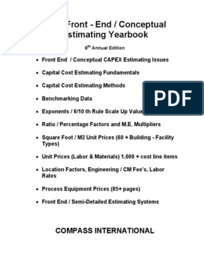 2009 Front End Conceptual Estimating Yearbook Euro