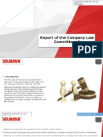 Report of the Company Law Committee II