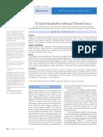Phase II Trial of Sorafenib in Advanced Thyroid Cancer