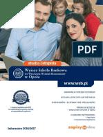 Informator 2016 - studia I stopnia - Wyższa Szkoła Bankowa w Opolu.pdf