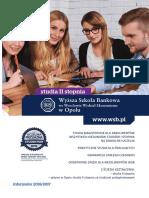 Informator 2016 - studia II stopnia - Wyższa Szkoła Bankowa w Opolu.pdf