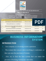 Business Information System- AIRLINE SYSTEM