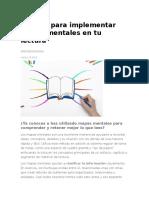 3 Pasos Para Implementar Mapas Mentales en Tu Lectura