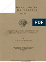 Romano-British imitations of bronze coins of Claudius I / by C.H.V. Sutherland