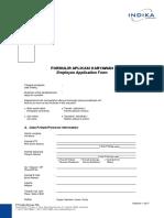 Formulir Aplikasi Karyawan