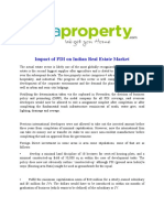Impact of FDI on Indian Real Estate Market