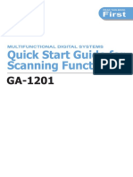Toshiba GA1201 Quick Start Guide for Scanning Functions