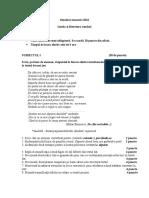 Subiect Simulare Clasa a XII-A (2)