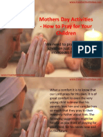 Mothers Day Activities - How to Pray for Your Children