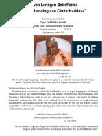 Zeven Leringen Betreffende Chota Haridasa