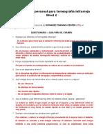 Preguntas Para Certificacion Termografia N2