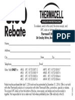 Thermacell Unit Rebate 2016
