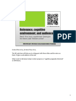 Relevance, cognitive environment, and audience