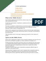 A9-Public Sector Governance