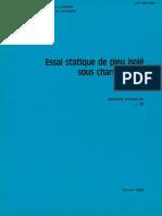Essais statique de pieu isolé sous charge axiale - méthode essai LPC n°31