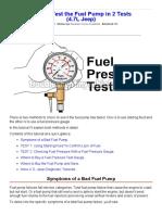 Como Testar a Bomba de Combustível - 1