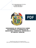 Ordenanza de Actividades Economicas Modif.2014
