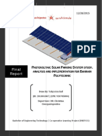 Photovoltaic Solar Parking System Study, Analysis and Implementation for Bahrain Polytechnic