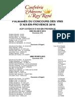 32e Concours des vins d'Aix-en-Provence