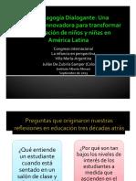 La Pedagogia Dialogante Una Propuesta Para Transformar La Educacion en America Latina