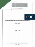 Informe Anual de la Inspección de Trabajo en el Perú 2014