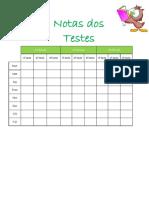 Resgisto de Notas Dos Testes