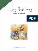 Happy Birthday for Alto Saxophone & Piano