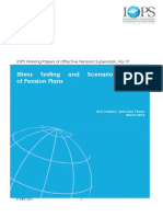 Working Paper 19 Stress Testing and Scenario Analysis of Pension Plans