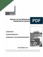 Manual de Autorizaciones Para Transportes Especiales Sps