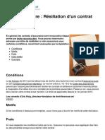 Modele de Lettre Resiliation d Un Contrat d Assurance 3049 Nn08uc