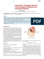 Use of Retroauricular Temporal Flap for Large Post Oncosurgical Glabellar and Forehead Defects