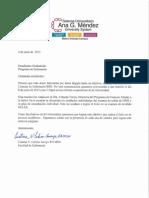 carta de estudiante firmada
