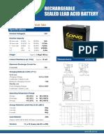 Especificação Da Bateria (WP5-12)
