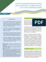 Boletín Agua Sustentable GENERO