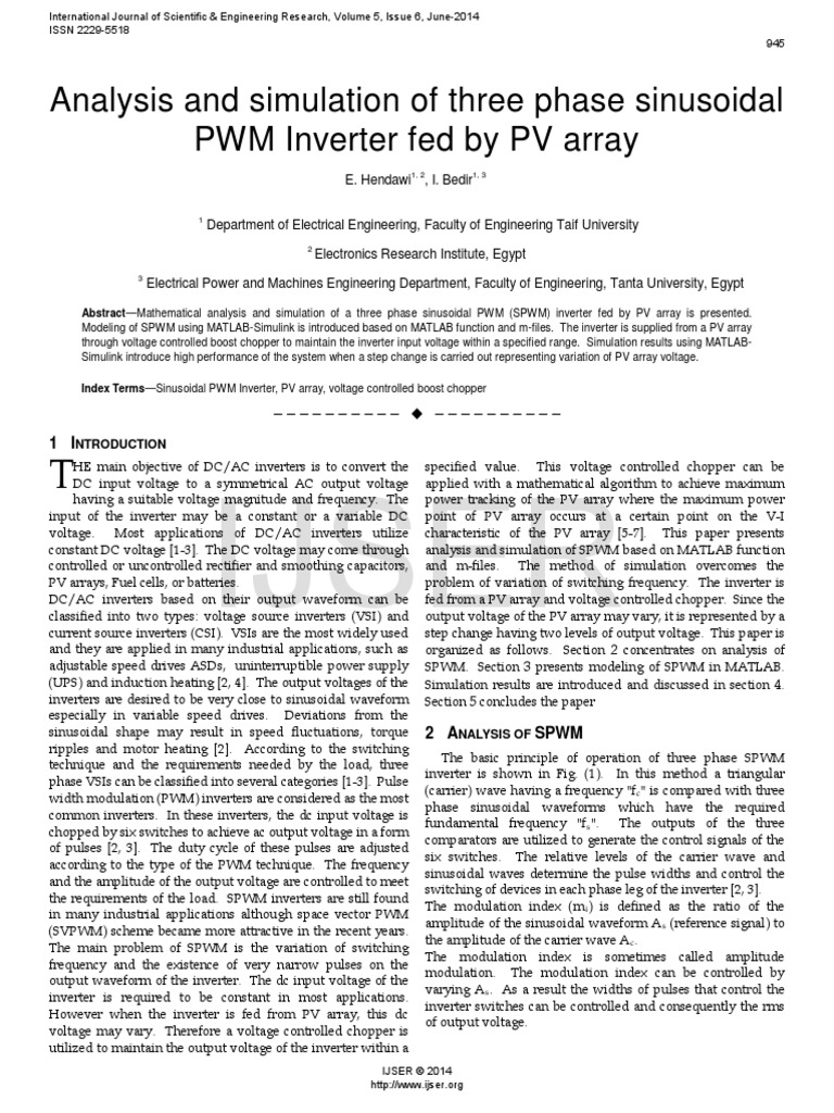 Researchpaper Analysis and Simulation of Three Phase